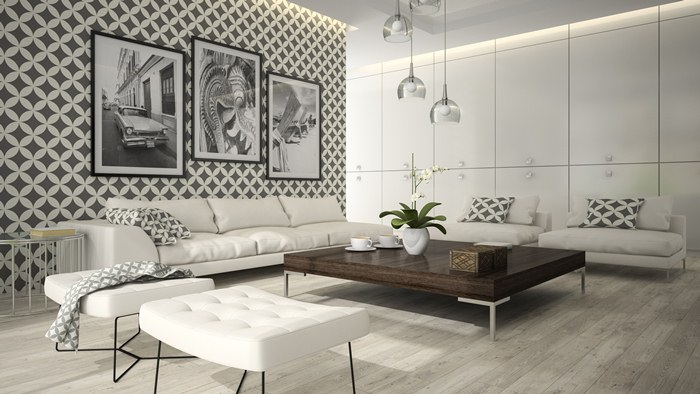 wykończenie ścian w nowym mieszkaniu tapety